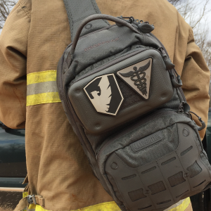 Six Echo System's Responder Kit with firefighter / first responder
